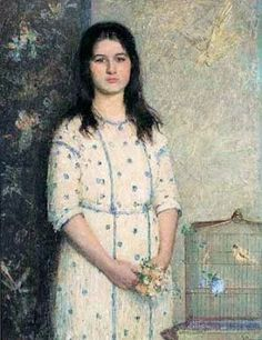 Pauline, A Little Friend of Mine Painting by Helen M. Turner American Impressionist Artist