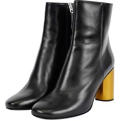 Acne Studios Black Leather Allis Ankle Boots (785 NZD) ❤ liked on Polyvore featuring shoes, boots, ankle booties, black high heel boots, black bootie, high heel booties, high heel bootie and high heel ankle boots