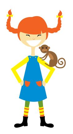 Pippi Longstocking - art. They especially loved when Pippy rode her horse in the house.