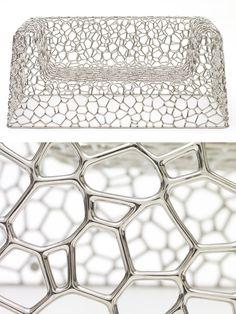 Designer Marc Newson's Random Pak Sofa 2007 — Gagosian Gallery, New York, via marcnewson.com