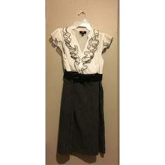 Black & White dress from Kohl's Mid-knee Iz Byer Dresses Midi