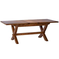 The New Frontier X Leg Dining Table - Extendable Dining Room Table