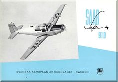 SAAB 91 D Safir Aircraft Technical Brochure Manual - - Aircraft Reports - Manuals Aircraft Helicopter Engines Propellers Blueprints Publications