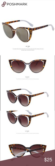 Fashion Cat Eye Sunglasses Lightweight for superior comfort. Reinforced metal hinges. 100% UV400 protection against harmful UVA/UVB. Italy designer vintage inspired frame design. Suitable for: round face, long face, square face, oval face. Package contains bag and cleaning cloth. Accessories Sunglasses