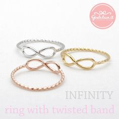 INFINITY ring with twisted band