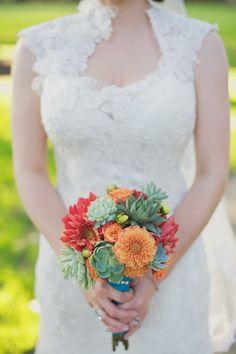 #bouquet  Photography: Melissa Brandman Photography - melissabrandman.com/ Invitations: MagnetStreet Weddings - MagnetStreetWeddings.com  Read More: http://www.stylemepretty.com/little-black-book-blog/2011/10/03/claremont-wedding-from-melissa-brandman-magnetstreet/