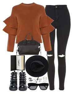 """""""Untitled #1986"""" by roxy-camarena on Polyvore featuring Topshop, Givenchy, T.U.K., CÉLINE, Alexander McQueen, Charlotte Russe, Ryan Roche and Yves Saint Laurent"""