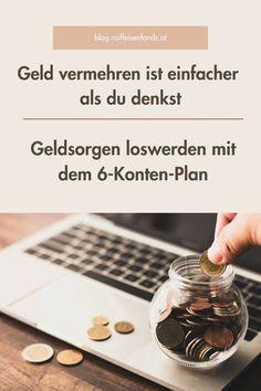 Haben Sie schon mal von 6-Konten-Plan gehört? Dieser kann Ihnen beim Loswerden von Geldsorgen behilflich sein. #geld #sparen #einfach #fonds #konto #plan #zeit #nehmen #fokus #finanzwissen #finanzen #zinsen #tipps #wissen #investieren