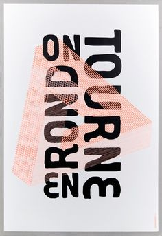 On tourne en rond - impression en tons directs - Les Graphiquants (France) Illustration Inspiration, Illustration Design Graphique, Typography Inspiration, Graphic Design Inspiration, Layout Inspiration, Graphic Design Studios, Graphic Design Posters, Graphic Design Typography, Branding Design