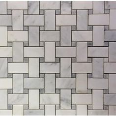 Trenza Weave Asian Statuary with Silver Dot Marble Tile - $15.00