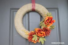 The crisp fall air has begun in my neck of the woods so I thought I'd start off my September posts with Fabulous DIY Fall Wreaths. These fall wreaths are easy to make and showcase the best… Easy Fall Wreaths, Diy Fall Wreath, Fall Diy, Wreath Burlap, Wreath Ideas, Yarn Wreaths, Diy Monogramm, Fall Crafts, Diy Crafts