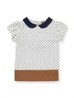 dotted peter pan collared blouse