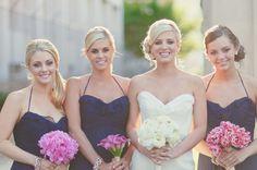 Pink and navy elegant wedding