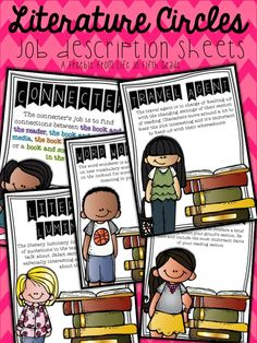 Literature Circle Template!  Cute DIY buttons for the roles/jobs!  Also, a great BLOG for 5th grade teachers!