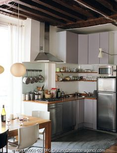 vanessa bruno paris apartment by stylemadesimple, via Flickr.  A very clever, tiny kitchen