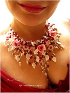 Beautiful flowers jewellery by Angela Chenina