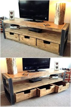 44 Modern TV Stand Designs for Ultimate Home Entertainment Tags: tv stand ideas for small living room, tv stand ideas for bedroom, antique tv stand ideas, awesome tv stand ideas, tv stand ideas creative Tv Furniture, Pallet Furniture, Rustic Furniture, Furniture Online, Furniture Outlet, Furniture Stores, Furniture Projects, Tv Stand Modern Design, Tv Stand Designs