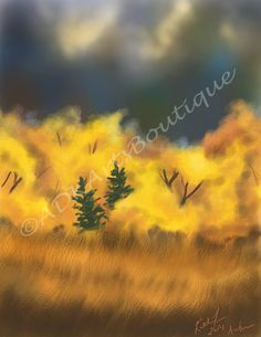 Digital Painting Art Print Autumn by ADKArtsBoutique on Etsy, $20.00