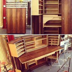 Completely refinished mid-century modern folding desk