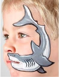 Image result for shark face paint