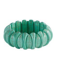 Faux Turquoise Stone Bracelet
