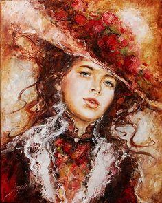 """Résultat de recherche d'images pour """"portrait d'une tres belle femme peinture"""""""