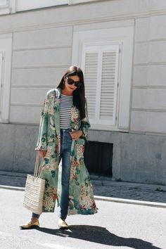 44 buenas ideas para llevar un kimono (muy) largo  - ELLE.es