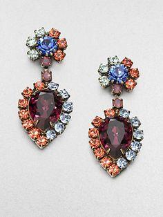 DANNIJO - Faceted Rainbow Drop Earrings - Saks.com