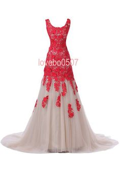 Red Lace Evening Dress Long Bridesmaid Dress, Lace Formal Dress Cocktail Dress Prom Dress with embroidery and straps Custom Dress
