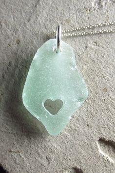 Beach glass with heart...