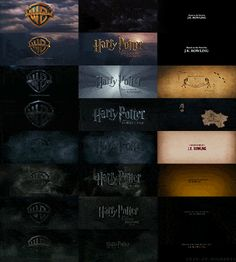 When someone put together the intros and ends to every Potter movie made.