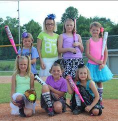 Softball picture ideas/ tutu skirts softball socks and cleats