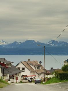 Narvik, Norway  I remember hiking up through these houses to the ski lodge. Beautiful spot.