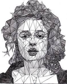 Portraits adapted with a unique triangular design.