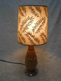 Two small fiberglass lamp shades two tier green by holliezhobbiez vintage 1950s mid century retro pink wgold pineapple shaped lamp wfiberglass shade aloadofball Choice Image
