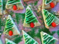 Gluten Free Almond Shortbread Christmas Tree Cookies