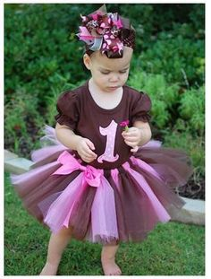 Chocolate Brown Tutu Dress Price: 1650/- Size 1-2 years, #babytutudress #baby #tutu