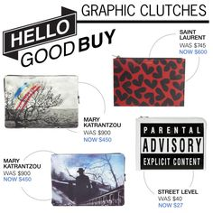 """""""Hello Good Buy: Graphic Clutches"""" by polyvore-editorial on Polyvore"""
