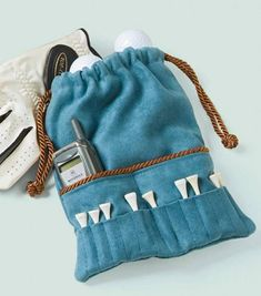 DIY Golf Accessories Bag Great for any Golfer | Suede Crafts | Mother's Day Gift Ideas | Golf Accessory