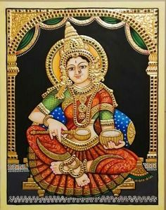 Mysore Painting, Tanjore Painting, Indian Folk Art, Mural Ideas, Princess Zelda, Disney Princess, Gypsy Style, Kerala, Handicraft