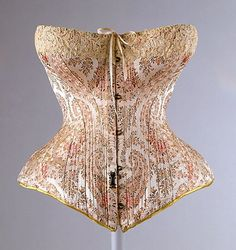 French silk corset dating from 1891. The Met