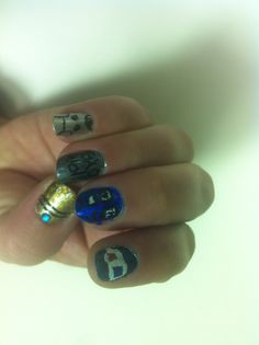 My nails for the BIG Dr. Who show on Saturday. My Nails, Big, Handmade, Beauty, Hand Made, Beauty Illustration, Handarbeit