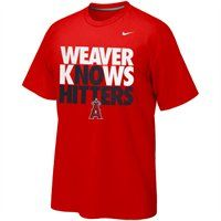 Nike Jered Weaver Los Angeles Angels of Anaheim Weaver No Hitter T-Shirt - Red