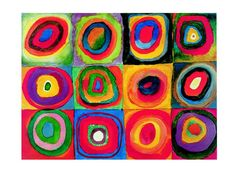 Kids Art Lesson: Kandinsky Inspired Concentric Circles Collage - Happiness is Homemade