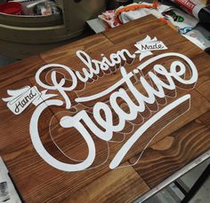 Lettering craft 2 Be awesome, that's our quote of... • typostrate - the typography and design blog