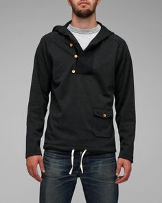 Brit 3 button hoodie: From Need Supply - yet another cool hoody