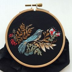 Grand Sewing Embroidery Designs At Home Ideas. Beauteous Finished Sewing Embroidery Designs At Home Ideas. Embroidery Hoop Decor, Silk Ribbon Embroidery, Embroidery Hoop Art, Hand Embroidery Patterns, Cross Stitch Embroidery, Contemporary Embroidery, Modern Embroidery, Vintage Design, Embroidery Techniques