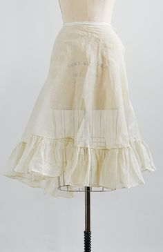 antique 1900s sheer structured petticoat skirt
