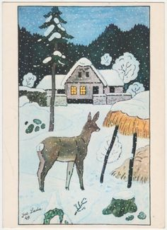 Naive, Close To My Heart, Fashion History, Illustrators, Folk Art, Celtic, Christmas Cards, Moose Art, The Past