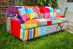 Entrega de mueble estilo patchwork